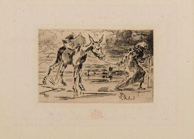 Félix Hilaire Buhot, 'L'Ane et la Vielle', ca. 1875