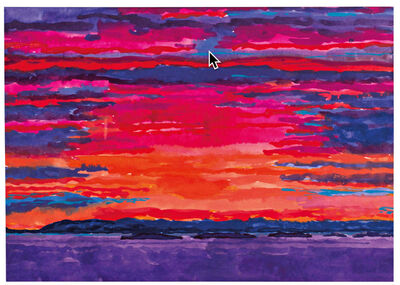 Graham Nickson, 'Thimble Island Sunset', 2004