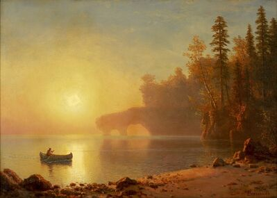 Albert Bierstadt, 'Indian Canoe', circa 1886