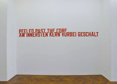 Lawrence Weiner, 'PEELED PAST THE CORE (Cat. #1135)', 2016