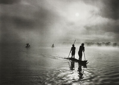 Sebastião Salgado, 'Fishing in the Piulaga Laguna during the Kuarup ceremony of the Waura Group, Upper Xingu Basin, Mato Grosso, Brazil', 2005