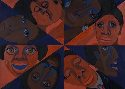 Faith Ringgold, 'Black Light Series #11: US America Black', 1969