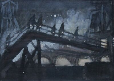 Norman Cornish, 'Miners approaching gentry', ca. 1960