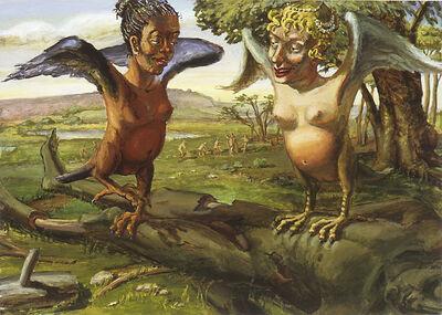 M. Louise Stanley, 'Conversation Between Two Harpies', 1997