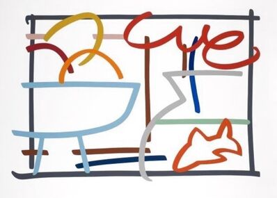Tom Wesselmann, 'Fast Sketch Still Life with Fruit and Goldfish', 1989