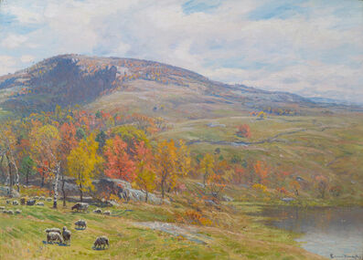 John Joseph Enneking, 'Crotched Mountain in October', 1891