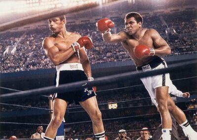 Neil Leifer, 'Muhammad Ali throwing a right hook to Ken Norton during the WBC/ WBA World Heavyweight Title fight at Yankee Stadium, The Bronx, New York'