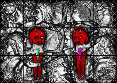 Gilbert and George, 'BEARD JUNCTION', 2017