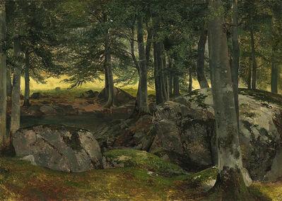 Alexandre Calame, 'Beech Grove, Rocky Foreground', ca. 1850-55