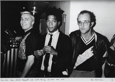 Ben Buchanan, 'John Sex, Jean Michel Basquiat and Keith Haring at AREA, 1984, NYC', 1984