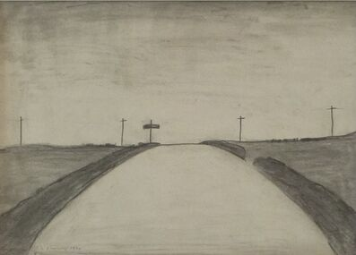 Laurence Stephen Lowry, 'Country Road Near Bowes, Cumberland', 1961