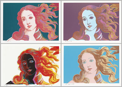 Andy Warhol, 'Details of Renaissance Paintings (Sandro Botticelli, Birth of Venus) Portfolio (F&S.II.316-319)', 1984