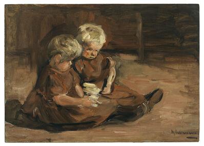 Max Liebermann, 'Spielende Kinder in einer Scheune', 1898
