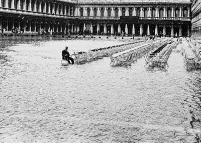 Fulvio Roiter, 'Senza titolo (Acqua alta in Piazza San Marco, Venezia)', anni 1950
