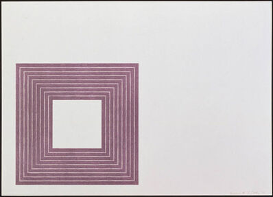 Frank Stella, 'Hollis Frampton', 1972