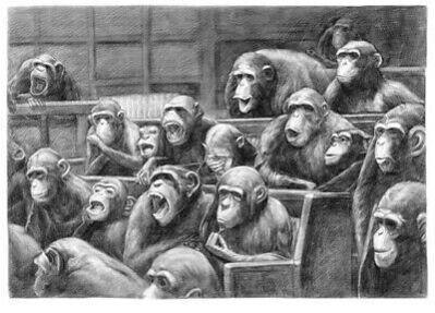 Mason Storm, 'Monkey Parliament sketch I', 2021