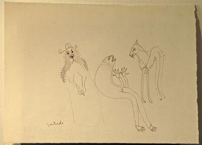 Francisco Toledo, 'Pescado y caballo', 1974