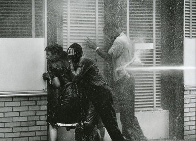Charles Moore, 'Alabama Fire Department Aims High-Pressure Water Hoses at Civil Rights Demonstrators, Birmingham May 1963', Printed 2007