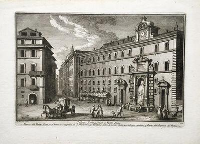 Giuseppe Vasi, 'Collegio Ecclesiastico a Ponte Sisto. Plate 177 from Delle Magnificienze di Roma Antica e Moderna', 1747-1761