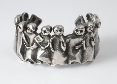 Line Vautrin, 'La Manifestation, Cuff Bracelet', ca. 1945