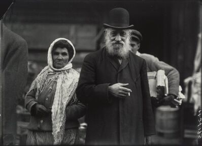 Lewis Wickes Hine, 'Bearded Man and Woman with Wig and Shawl, Lower East Side, New York City'