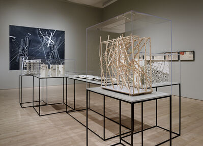 "Lebbeus Woods, 'Installation view ""Lebbeus Woods: Architect""', 2013"