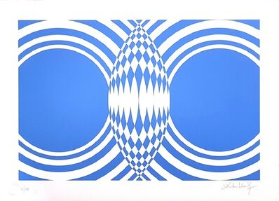 "Victor Debach, '""Variations of Blue"" SELECTION: three amazing pieces ON SALE', 1970s"