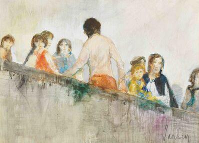 Jean Jansem, 'Personnage sur un mur', 1983
