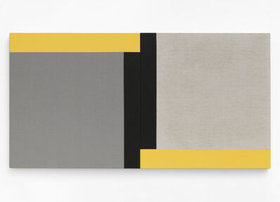 Scot Heywood, 'Matisse's Window - Gray, Linen, Black, Yellow', 2020