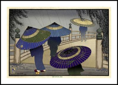 Lilian May Miller, 'Rain Blossoms, Japan (A)', 1928