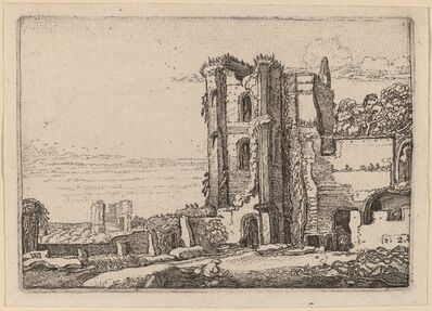 Willem Buytewech, 'Ruined Tower Right of Center', 1621