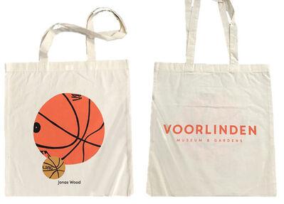 "Jonas Wood, '""Jonas Wood"", 2017, Exhibition Tote Bag Silkscreen on Canvas, Jonas Wood/Shio Kusaka at Voorlinden Museum Netherlands', 2017"