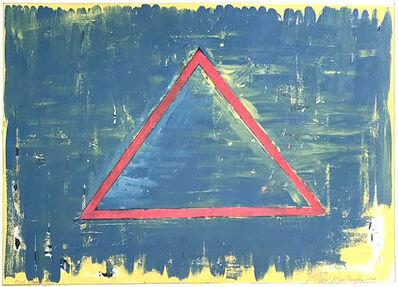 Richard Huntington, 'Red Triangle and Blue', 1979