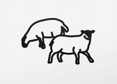 Julian Opie, 'Sheep 2 (Steelcut)', 2015
