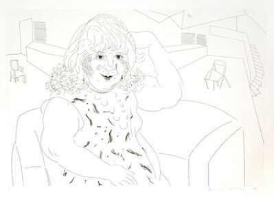 David Hockney, 'Ann in the Studio', 1984