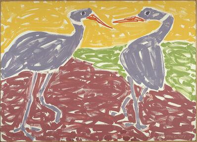 Stephen Pace, 'Ostrich Courtship (89-13)', 1989