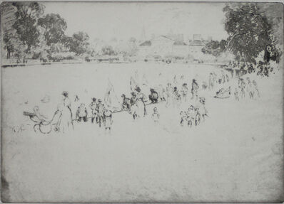 Joseph Pennell, 'Round Pond Kensington (Toy Boats)', 1900-1920