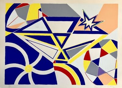 Knox Martin, 'Pop Art Abstract Lithograph Silkscreen Abstract Geometric ', 1970-1979