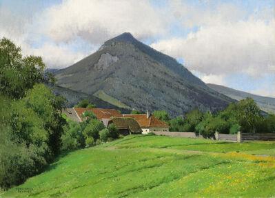 Ferdinand Brunner, 'Landscape of the Almtal Valley with Zwillingskogel (Traunviertel)', 1927