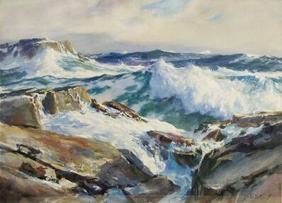 John Whorf, 'Rolling From the East, Maine Coast', 1950