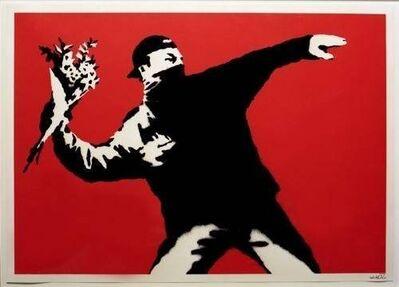 Banksy, 'Love is in the Air (Flower Thrower) ', 2003