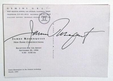 James Rosenquist, 'James Rosenquist GEMINI GEL Postcard, signed', 1996