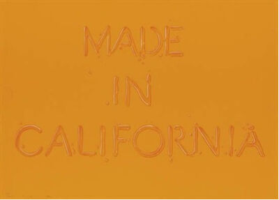 Ed Ruscha, 'Made in California', 1971