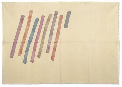 Giorgio Griffa, 'Strisce oblique', 1976