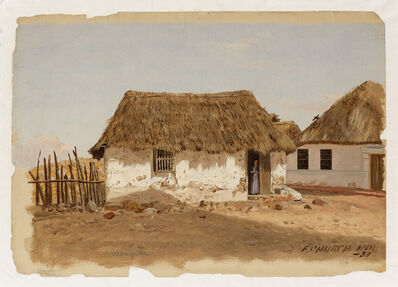 Frederic Edwin Church, 'Colombia, Barranquilla, Two Houses', April 1853