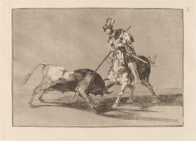 Francisco de Goya, 'El Cid Campeador lanceando otro toro  (The Cid Campeador Spearing Another Bull)', in or before 1816