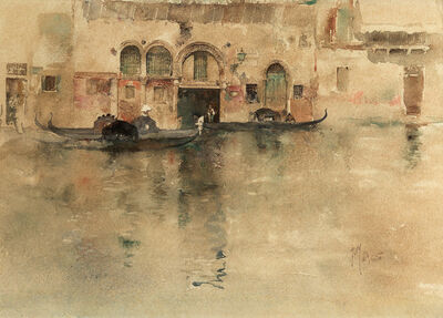 Robert Frederick Blum, 'The Traghetto, Venice', 1880