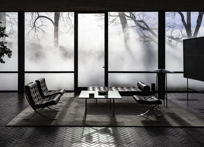 Richard Barnes, 'Interior View with Mies, Glass House', 2014
