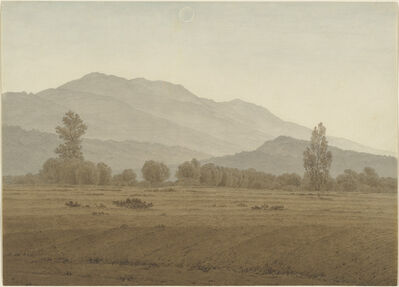 Caspar David Friedrich, 'New Moon above the Riesengebirge Mountains', 1810 or 1828/1835