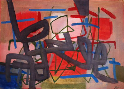 Fritz Winter, 'Composition in Red and Blue', 1953